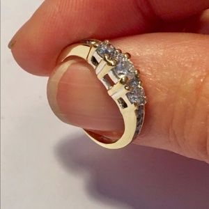 14k diamond past present future diamond ring .50